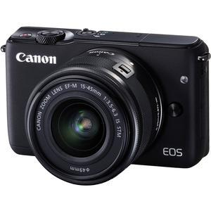 Canon EOS M10 Wi-Fi Digital ILC Camera and EF-M 15-45mm IS STM Lens-Black -