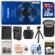 Canon PowerShot Elph 190 IS Wi-Fi Digital Camera (Blue) with 32GB Card + Case + Battery & Charger + Flex Tripod + Kit