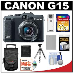 Canon PowerShot G15 Digital Camera (Black) with 32GB Card + Battery + Case + Flex Tripod + Accessory Kit at Sears.com