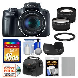 Details about Canon PowerShot SX50 HS 50x Digital Camera Kit Black NEW