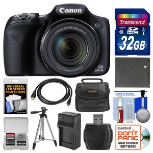 Canon PowerShot SX530 HS Wi-Fi Digital Camera with 32GB Card + Case + Battery and Charger + Tripod + Kit