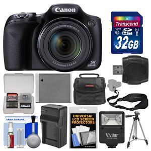 Canon PowerShot SX530 HS Wi-Fi Digital Camera with 32GB Card + Case + Flash + Battery and Charger + Tripod + Sling Strap + Kit