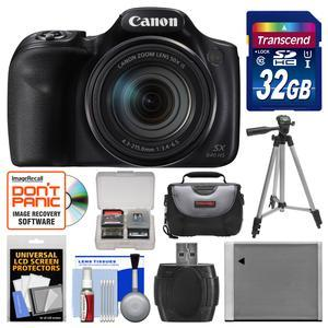 Canon PowerShot SX540 HS Wi-Fi Digital Camera with 32GB Card + Case + Battery + Tripod + Kit