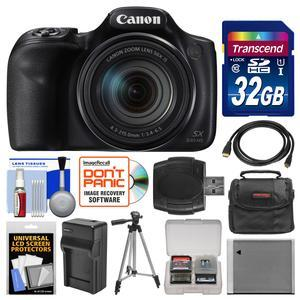 Canon PowerShot SX540 HS Wi-Fi Digital Camera with 32GB Card + Case + Battery and Charger + Tripod + Kit