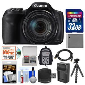 Canon PowerShot SX540 HS Wi-Fi Digital Camera with 32GB Card + Backpack + Battery and Charger + Flex Tripod + Kit
