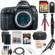 Canon EOS 5D Mark IV 4K Wi-Fi Digital SLR Camera Body with 64GB SD Card + Battery & Charger + Case + Flex Tripod + Sling Strap + Kit