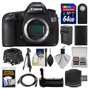 Canon EOS 5DS R Digital SLR Camera Body with 64GB Card and Case and Battery and Charger and Grip and Tripod and Remote and Kit