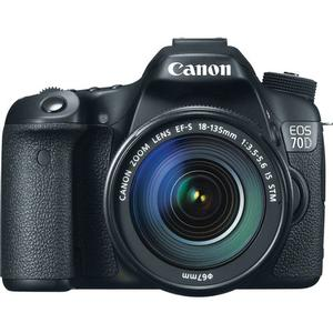 Canon EOS 70D Digital SLR Camera And EF-S 18-135mm IS STM Lens