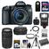 Canon EOS 70D Digital SLR Camera & EF-S 18-135mm IS STM Lens with 75-300mm III Lens + 64GB Card + Battery + Case + Filters + Flash + Tripod + Kit