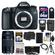 Canon EOS 70D Digital SLR Camera Body with 75-300mm III Lens + 64GB Card + Case + Flash + Battery + Charger + Tripod + Kit