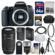 Canon EOS 77D Wi-Fi Digital SLR Camera Body with 55-250mm IS Lens + 64GB Card + Case + Flash + Battery & Charger + Tripod + Filter Kit