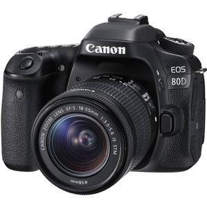 Canon EOS 80D Wi-Fi Digital SLR Camera and EF-S 18-55mm IS STM Lens