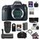 Canon EOS 6D Digital SLR Camera Body with EF 24-70mm f/2.8 L II Lens + 64GB Card + Battery + Grip + Case + 3 Filters Kit