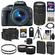 Canon EOS Rebel SL1 Digital SLR Camera & EF-S 18-55mm IS STM Lens (Black) with 75-300mm III Lens + 64GB Card + Battery + Case + Tele/Wide Lenses + Tripod Kit