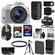 Canon EOS Rebel SL1 Digital SLR Camera & EF-S 18-55mm IS STM Lens (White) with 55-250mm IS STM Lens + 64GB Card + Battery + Backpack + Tele/Wide Lens Kit
