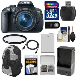 Canon EOS Rebel T5i Digital SLR Camera and EF-S 18-55mm IS STM Lens with 32GB Card + Battery and Charger + Backpack + Filter + HDMI Cable + Accessory Kit