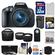 Canon EOS Rebel T5i Digital SLR Camera & EF-S 18-55mm IS STM Lens with 32GB Card + Case + Battery/Charger + Tele/Wide Lenses + 3 Filters Kit