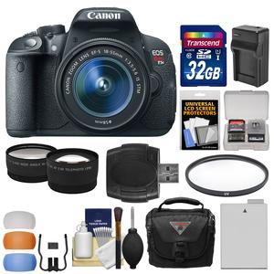 Canon EOS Rebel T5i Digital SLR Camera and EF-S 18-55mm IS STM Lens with 32GB Card + Case + Battery and Charger + Filter + Tele-Wide Lens Kit