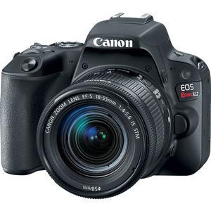 Canon EOS Rebel SL2 Wi-Fi Digital SLR Camera and EF-S 18-55mm IS STM Lens - Black -