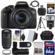 Canon EOS Rebel T6i Wi-Fi Digital SLR Camera & EF-S 18-135mm IS STM Lens with 55-250mm IS STM Lens + 64GB Card + Case + Grip + Filters + Tripod + Flash + Kit