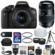 Canon EOS Rebel T6i Wi-Fi Digital SLR Camera & EF-S 18-55mm IS STM Lens with 70-300mm Di Lens + Case + 32GB Card + Tripod + Strap + Flash + Tele/Wide Lens Kit