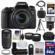 Canon EOS Rebel T6s Wi-Fi Digital SLR Camera & EF-S 18-135mm IS STM Lens with 55-250mm IS STM Lens + 64GB Card + Case + Grip + Tripod + Flash + Tele/Wide Lens Kit