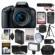 Canon EOS Rebel T7i Digital SLR Camera & EF-S 18-55mm IS STM Lens Video Creator Kit + RODE Mic + 32GB Card + Case + LED Light + Diffuser + Battery & Charger + Tripod + Kit