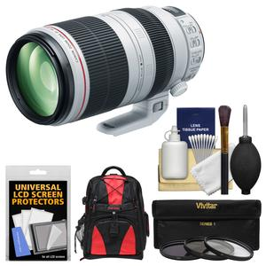 Canon EF 100-400mm f-4.5-5.6 L IS II USM Telephoto Zoom Lens with 3 UV-CPL-ND8 Filters and Case and Accessory Kit