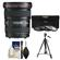 Canon EF 17-40mm f/4 L USM Zoom Lens with Tripod + 3 (UV/ND8/CPL) Filters + Cleaning Kit