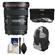 Canon EF 17-40mm f/4 L USM Zoom Lens with Backpack + 3 (UV/ND8/CPL) Filters + Cleaning Kit