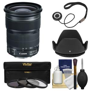Canon EF 24-105mm f-3.5-5.6 IS STM Zoom Lens with 3 UV-CPL-ND8 Filters and Hood and Kit