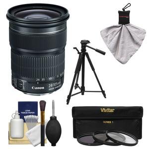 Canon EF 24-105mm f-3.5-5.6 IS STM Zoom Lens with Tripod and 3 UV-CPL-ND8 Filters and Kit