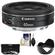 Canon EF 40mm f/2.8 STM Pancake Lens with 3 (UV/CPL/ND8) Filters + Hood + Cleaning Kit