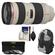 Canon EF 70-200mm f/2.8L USM Zoom Lens with 3 UV/ND8/CPL Filters + Backpack + Cleaning Kit