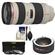 Canon EF 70-200mm f/2.8L USM Zoom Lens with 2x Teleconverter + 3 UV/ND8/CPL Filters + Cleaning Kit