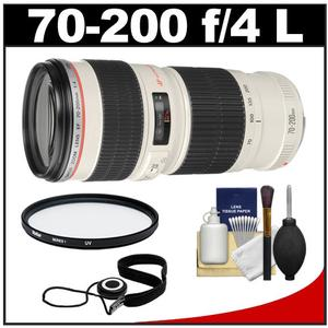 Canon EF 70-200mm f-4 L USM Zoom Lens with UV Filter and Accessory Kit