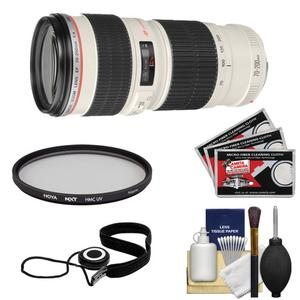 Canon EF 70-200mm f-4 L USM Zoom Lens with Hoya HMC UV Filter and Accessory Kit