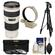 Canon EF 70-200mm f/4 L USM Zoom Lens with Tripod + Ring Collar + 3 UV/CPL/ND8 Filters + Kit