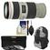 Canon EF 70-200mm f/4L IS USM Zoom Lens with 3 Hoya UV/CPL/ND8 Filters + Backpack + Accessory Kit