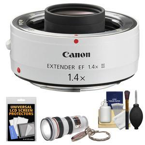 Canon EF 1.4x Extender III Lens Teleconverter with LED Flashlight and Cleaning Kit
