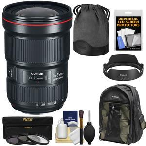 Canon EF 16-35mm f-2.8L III USM Zoom Lens with 3 UV-CPL-ND8 Filters and Backpack and Kit