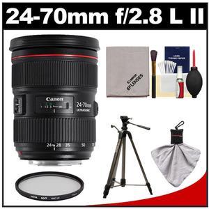 Canon EF 24-70mm f/2.8 L II USM Zoom Lens with Hoya HMC UV Filter + Tripod + Accessory Kit