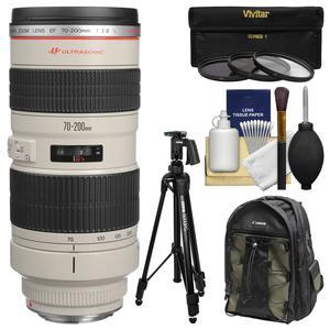 The Canon EF 70-200mm f/2.8L USM is one of the finest telephoto zoom lenses in the EF line  comparable to a single focal length lens. It has four UD-glass elements to correct chromatic aberrations. Its constant f/2.8 maximum aperture and superb image quality make it one of the most popular professional SLR lenses in the world.