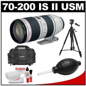 Canon EF 70-200mm f/2.8 L IS II USM Zoom Lens with Canon 2400 Case + Tripod + Accessory Kit