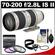 Canon EF 70-200mm f/2.8 L IS II USM Zoom Lens with 3 (UV/FLD/CPL) Filters + Accessory Kit