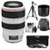Canon EF 70-300mm f/4-5.6 L IS USM Zoom Lens with 3 UV/ND8/CPL Filters + Tripod + Cleaning Kit