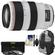 Canon EF 70-300mm f/4-5.6 L IS USM Zoom Lens with Backpack + 3 UV/ND8/CPL Filters + Cleaning Kit