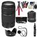 Canon EF 75-300mm f/4-5.6 III Zoom Lens with Flex Tripod + 3 UV/CPL/ND8 Filters + Hood + Accessory Kit