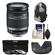Canon EF-S 18-200mm f/3.5-5.6 IS Zoom Lens with Case + 3 UV/FLD/CPL Filters + Hood + Accessory Kit