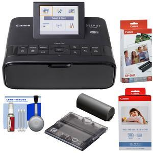 Canon SELPHY CP1300 Wi-Fi Wireless Compact Photo Printer with NB-CP2LH Battery Pack with KP-36IP and KP-108IN Color Ink Paper Set + PCC-CP400 Card Size Cassette + Kit